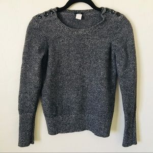 ☄️3/$25 J.Crew Grey 100% Wool Sweater